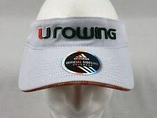 NEW adidas Miami Hurricanes - White Visor Hat (OSFM)