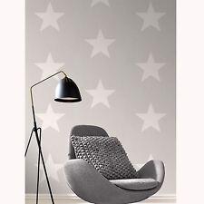 NEW Rasch Stars White & Grey Feature  Wallpaper 248128