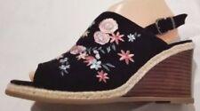 Suede Peep Toes Floral Heels for Women