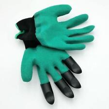 M00026 GLOVES WITH CLAWS 1 Pair Rubber Cloth Garden Dig Plant Rake T20