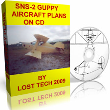 GUPPY BIPLANE ULTRALIGHT AIRCRAFT PLANS ON CD PLUS 1/2 VW CONVERSION PLANS