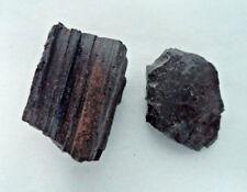2 x Rough Black Tourmaline Regular Grade Natural Raw Crystal Protection