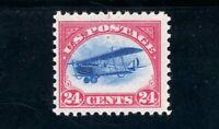 USAstamps Unused FVF US 1918 Airmail Jenny Scott C3 OG MVLH