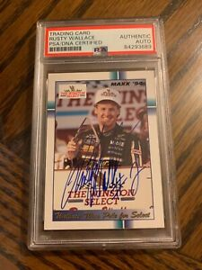 Rusty Wallace Autographed 1994 Nascar Official Maxx Card PSA Slabbed & Certified
