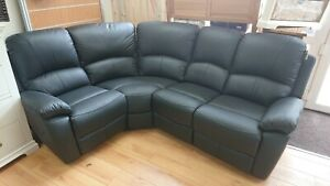 FAUX LEATHER RECLINING CORNER SOFA