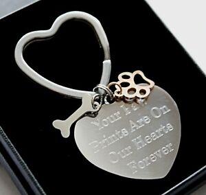 Personalised Pet Loss Memorial Keyring Any Engraving Remembrance Keepsake Gifts