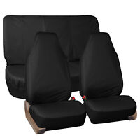 Oxford Car Seat Cover Set Black Waterproof 2 Headrests