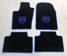 Autoteppich Fußmatten für Dodge Durango schwarz blau ab 2010 Velours 4teilig Neu
