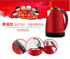 2.0L Kettle Cordless Electric Jug Stainless Steel Rapid Boil 360º Base New