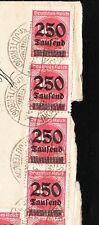 Germany Inflation Wahlsdorf 1923 8x250 Thousand Marks Cover 6y