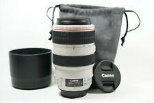 Canon EF 70-300mm F4-5.6 L IS USM Autofocus Telephoto Zoom EOS Lens + Hood/Pouch