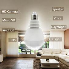WiFi 1080P Hidden IP Camera Light Bulb 360 Panoramic Home Security Surveillance