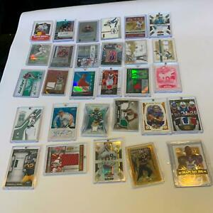 Huge Lot Of 176 Baseball Basketball Football Cards Many Auto & Game Used Cards