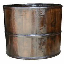 Antique Wooden Water Bucket w/ Beautiful Colour and Grain (25-033)