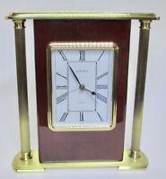 Linden Quartz Desk Clock with Alarm - Vintage