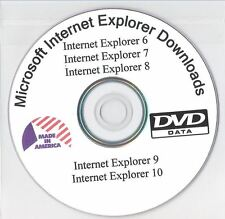 Internet Explorer 6, 7, 8, 9 and 10 Downloaded on DVD