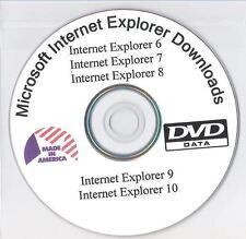 Internet Explorer 6, 7, 8, 9 and 10 Downloaded on DVD