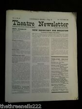 THEATRE NEWSLETTER - OCT 2 1948 - NEW REPERTORY FOR BRIGHTON