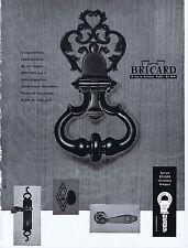 PUBLICITE ADVERTISING 054 1964 BRICARD serrure clé poignée