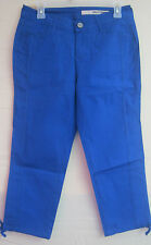 NWT LADIES DKNY CAPRIS 98% COTTON 2% SPANDEX SEA BLUE STRETCH SIZE 4  # 186-LC