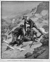 FREDERIC REMINGTON, RESCUE OF CORPORAL SCOTT, SOLDIERS