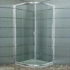 Box doccia 90x90 semicircolare apertura scorrevole in cristallo 6 mm trasparente