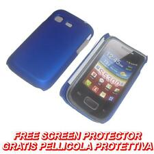 Pellicola + custodia BACK cover RIGIDA BLU per Samsung Galaxy Pocket S5300