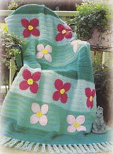 Crochet Pattern ~ FLOWER GARDEN AFGHAN ~ Instructions