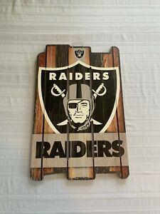 "Las Vegas Raiders NFL 17"" x 11"" Wood Decorative Indoor Sign Wincraft Brand New"