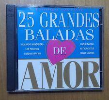 CD´S DOBLES 25 GRANDES BALADAS DE AMOR