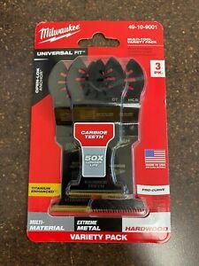 Milwaukee Multi Tool Variety Pack 3Pk Pro Curve Universal Fit  49-10-9001
