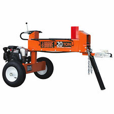 Brave 20-Ton Honda-Powered Horizontal Dual-Action Gas Log Splitter