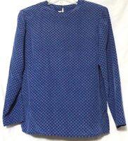 Appleseeds Womens Blue green Red Circle Design Long Sleeve Shirt Top Size 6