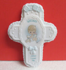 Precious Moments William Boy Jesus Loves Me Personalized Cross Wall Hanging