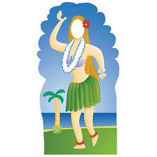 HULA GIRL STAND-IN CARDBOARD CUTOUT Standup Standee Standin Hawaiian Island F/S