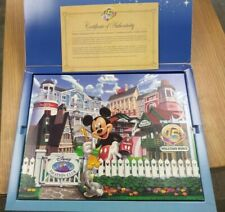 Disney Vacation Club 15 Years Printed Canvas Mickey Mouse Picture with Box
