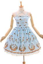 JSK-06-2 Blau goldener Schwan Pastel Gothic Lolita Kleid Stretch dress Cosplay