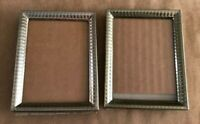 "Set of 2 Table top picture photo frame gold tone 2.5 x 3.5"" mid century vintage"
