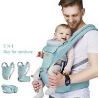 Ergonomic Baby Carrier Infant Kids Hipseat Backpack Front Facing Sling Removable