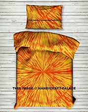 Indian Tie Dye Abstract Bohemian Hippie Boho Duvet Cover Set Bedding SINGLE SIZE