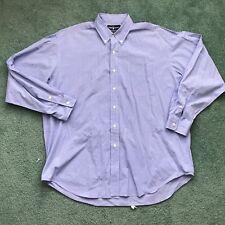 Ralph Lauren Men's Blue White Plaid Long Sleeve Button Front Shirt Size XL