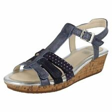 Calzado de niña sandalias de piel color principal azul