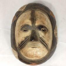Pintado De Madera Tallada bamileke Máscara de Camerún arte tribal africano 32cm De Alto