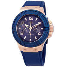 Guess Rigor Blue Dial Blue Silicone Men's Watch W0247G3