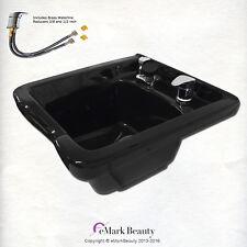 Square Shampoo Bowl Black ABS Plastic Shampoo Sink Salon Equipment TLC-B11 KSGT