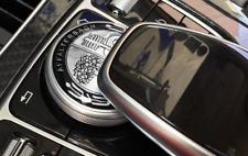 AMG Multimedia Control Badge Alloy Sticker for Benz A B C E CLA GLA GLE CLASS