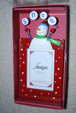 "Christmas Snowman Picture Frame 3.5x5 Photo Holiday Frames 10"" NIB Teacher Gift"