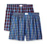 $55 TOMMY HILFIGER UNDERWEAR MEN BLUE RED 2-PACK COTTON WOVEN BOXERS SIZE S