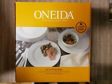 Oneida Chefs Table 8 Piece Entertaining Dinner Plates