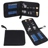 33pcs Sketching Pencils Drawing Kit Set w/ Erasers Charcoal Stick Sharpener Tool